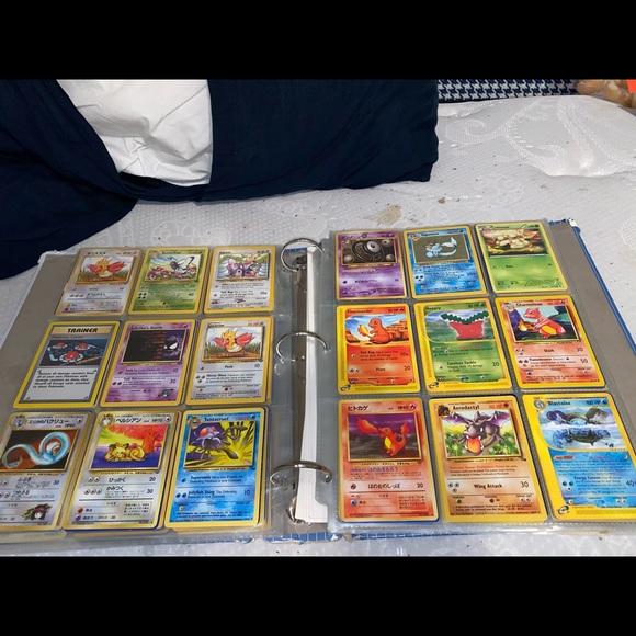 Pokémon cards. One of my old binders.